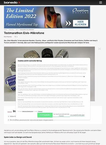 Bonedo.de Testmarathon Elvis-Mikrofone