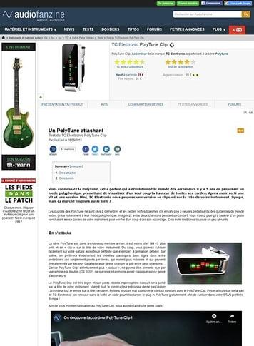 Audiofanzine.com TC Electronic PolyTune Clip