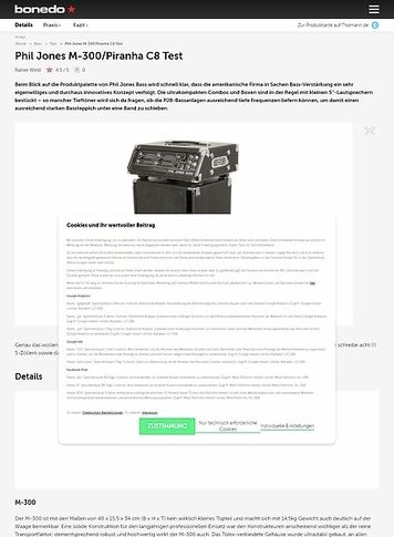 Bonedo.de Phil Jones M-300/Piranha C8