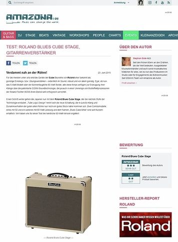 Amazona.de Test: Roland Blues Cube Stage, Gitarrenverstärker