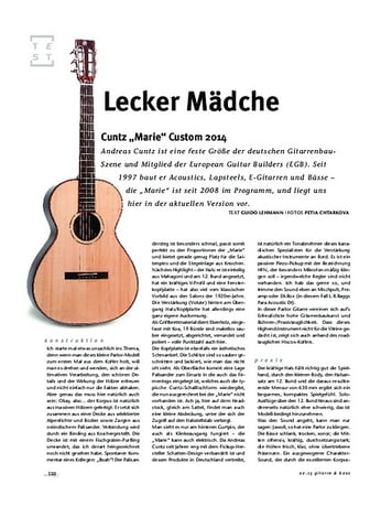 """Gitarre & Bass Cuntz """"Marie"""" Custom 2014, A-Gitarre"""
