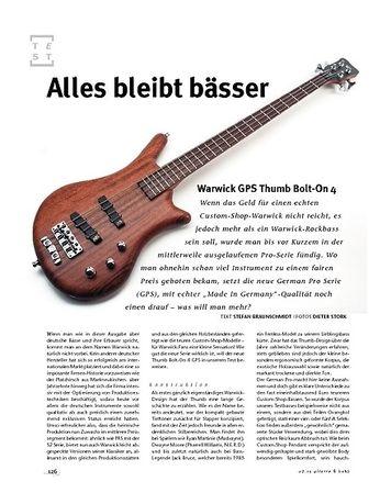 Gitarre & Bass Warwick GPS Thumb Bolt-On 4, E-Bass