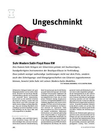 Gitarre & Bass Suhr Modern Satin Floyd Rose RW, E-Gitarre
