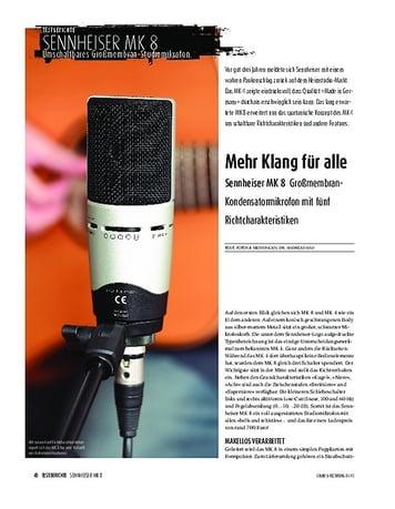 Sound & Recording Sennheiser MK 8 - Großmembran-Kondensatormikrofon mit fünf Richtcharakteristiken