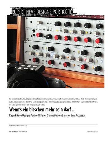 Sound & Recording Rupert Neve Designs Portico-II-Serie - Channelstrip und Master Buss Processor