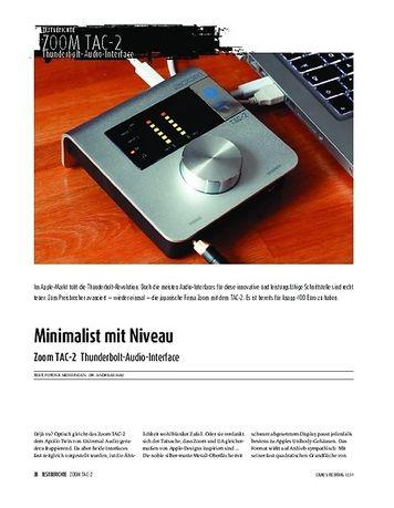 Sound & Recording Zoom TAC-2 Thunderbolt-Audio-Interface