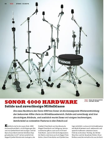 Sticks SONOR 4000 Hardware - Aufwertung mit neuen Features