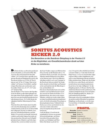 Sticks Sonitus Acoustics Kicker 2.0