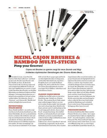 Sticks Meinl Cajon Brushes & Bamboo Multi-Sticks