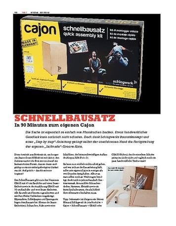 Sticks Schlagwerk Cajon Schnellbausatz