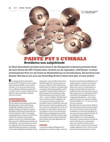 Sticks Paiste PST 5 Cymbals