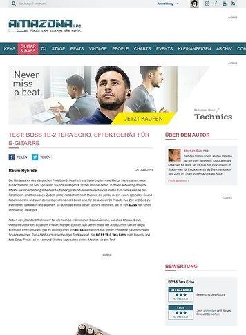Amazona.de Test: BOSS TE-2 Tera Echo, Effektgerät für E-Gitarre