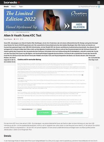 Bonedo.de Allen & Heath Xone:43C
