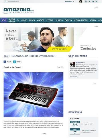 Amazona.de Test: Roland JD-XA, Hybrid-Synthesizer