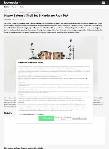 Bonedo.de Mapex Saturn V Shell Set & Hardware Pack