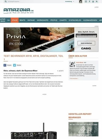 Amazona.de Test: Behringer XR18, XR16, Digitalmixer, Teil 1