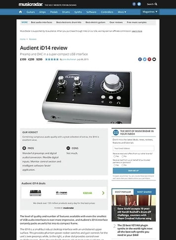 MusicRadar.com Audient iD14