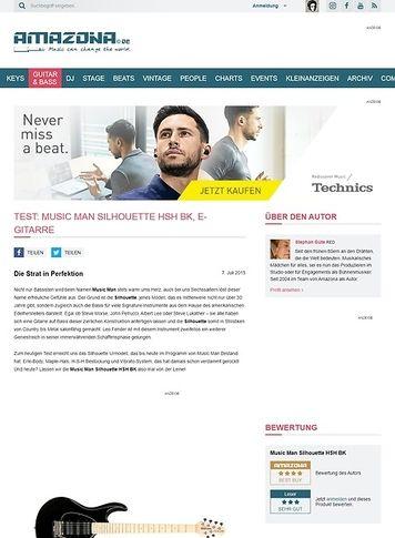 Amazona.de Test: Music Man Silhouette HSH BK, E-Gitarre