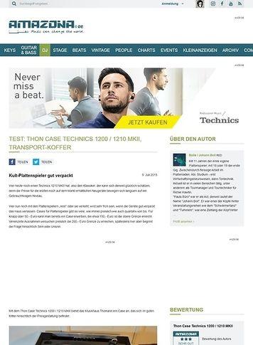Amazona.de Test: Thon Case Technics 1200 / 1210 MKII, Equipment-Case