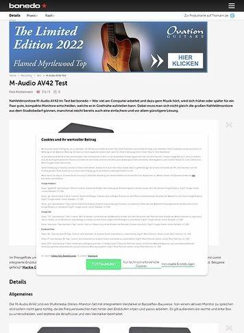 Bonedo.de M-Audio AV42