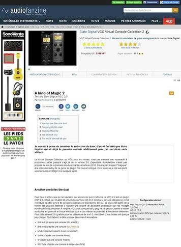 Audiofanzine.com Slate Digital VCC Virtual Console Collection 2