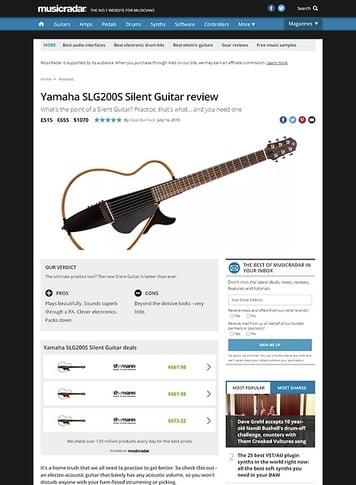MusicRadar.com Yamaha SLG200S Silent Guitar