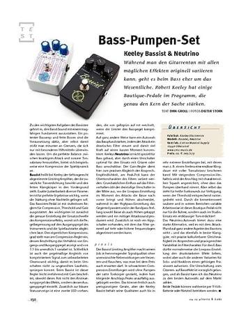 Gitarre & Bass Keeley Bassist & Neutrino, Bass-FX-Pedale