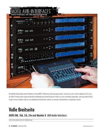Sound & Recording MOTU 8M, 16A, 24i, 24o und Monitor 8 - Audio-Interfaces mit Netzwerkfähigkeiten