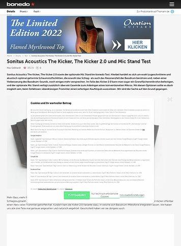 Bonedo.de Sonitus Acoustics The Kicker, The Kicker 2.0 und Mic Stand
