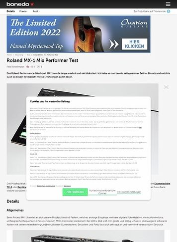 Bonedo.de Roland MX-1 Mix Performer