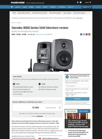 MusicRadar.com Genelec 8000 Series SAM Monitors