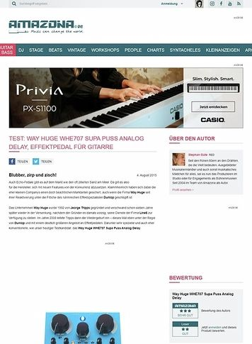 Amazona.de Test: Way Huge WHE707 Supa Puss Analog Delay, Effektpedal für Gitarre