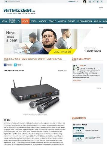 Amazona.de Test: LD Systems WS1G8, Funkstrecke
