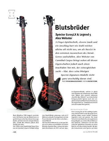 Gitarre & Bass Spector Euro5LX & Legend 5 Alex Webster, E-Bässe