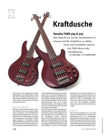 Gitarre & Bass Yamaha TRBX 504 & 505, E-Bässe
