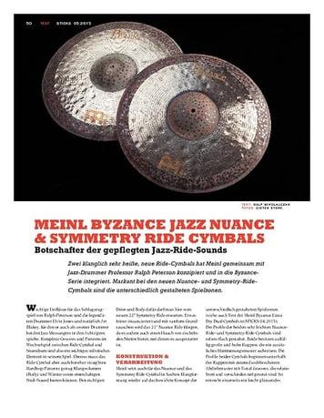 Sticks Meinl Byzance Jazz Nuance & Symmetry Ride Cymbals