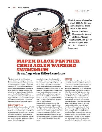 Sticks Mapex Black Panther Chris Adler Warbird Snaredrum