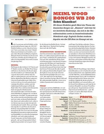 Sticks Meinl Wood Bongos WB 200