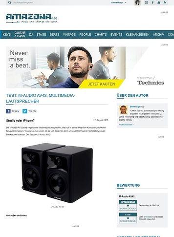 Amazona.de Test: M-Audio AV42, Multimedia-Lautsprecher