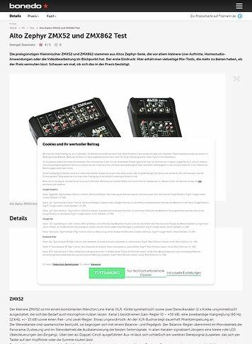 Bonedo.de Alto Zephyr ZMX52 und ZMX862