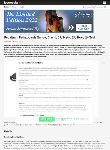 Bonedo.de Pedaltrain Nano+, Classic JR, Metro 24, Novo 24