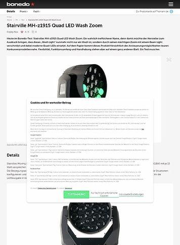Bonedo.de Stairville MH-z1915 Quad LED Wash Zoom
