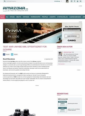 Amazona.de Test: MXR Univibe M68, Effektgerät für Gitarre