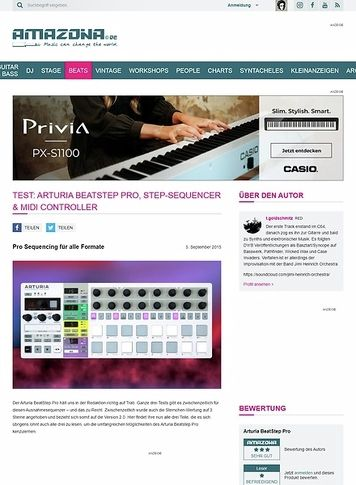 Amazona.de Test: Arturia BeatStep Pro, Step-Sequencer & MIDI Controller