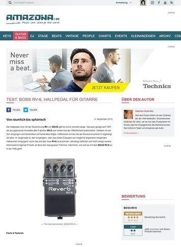 Amazona.de Test: BOSS RV-6, Hallpedal für Gitarre