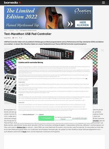 Bonedo.de Test-Marathon USB Pad Controller