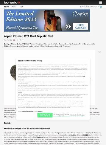 Bonedo.de Aspen Pittman DT1 Dual Top Mic