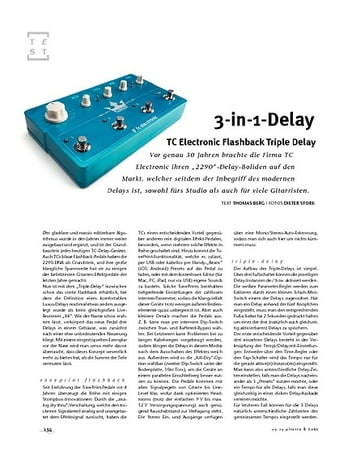 Gitarre & Bass TC Electronic Flashback Triple Delay, FX-Pedal