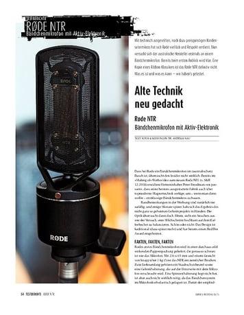 Sound & Recording Røde NTR - Bändchenmikrofon mit Aktiv-Elektronik