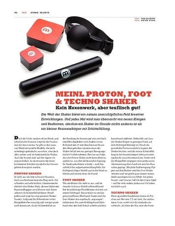 Sticks Meinl Proton, Foot & Techno Shaker